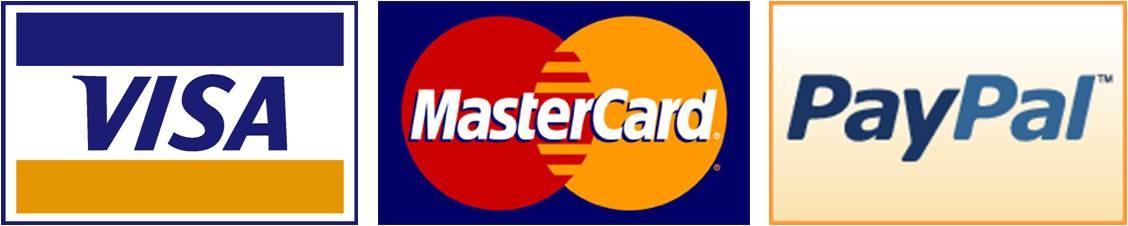 Visa - MasterCard - Paypal